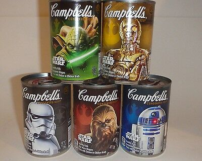 Set of 5 Star Wars Campbell's Soup Cans Target LIMITED EDITION Mint