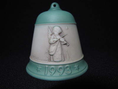 1993 Hummel Porcelain Christmas Bell Ornament 1st in Series of 4 Angel Violin