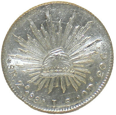1884 Zs Mexico 8 Reales - UNC - 0104