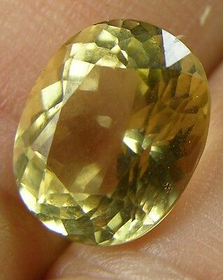 5.25ct or 1.05g Brazil Natural Clean Yellow Beryl Heliodor Oval Facet Gemstone