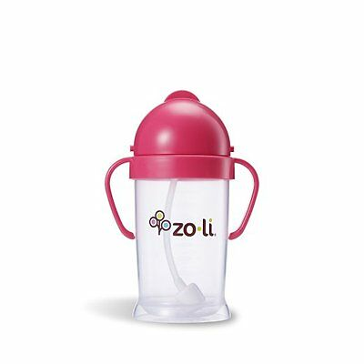 NEW - ZoLi BOT XL Straw Sippy Cup PINK 9oz- FREE SHIPPING