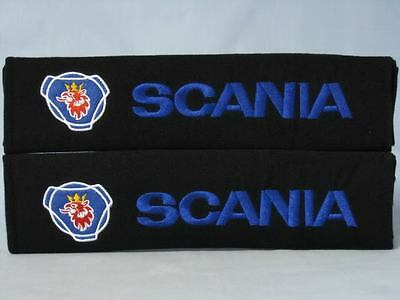 NEW SCANIA Embroidery Car Seat Belt Shoulder Pads Pair