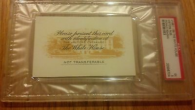 1981-89 PRESIDENT RONALD REAGAN White House Visitors Pass Credential Ticket PSA