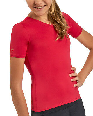 Tommie Copper Girl's Core Compression Short Sleeve V-Neck Shirt