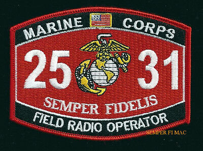 Mos 2531 Field Radio Patch Hf Vhf Comm Us Marines Pin Up Mos 2531 Uss Fmf Gift