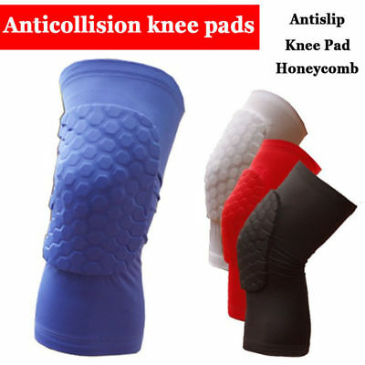 Honeycomb Crushproof Antislip Dance Long Knee Pad Protector - UK Supplier