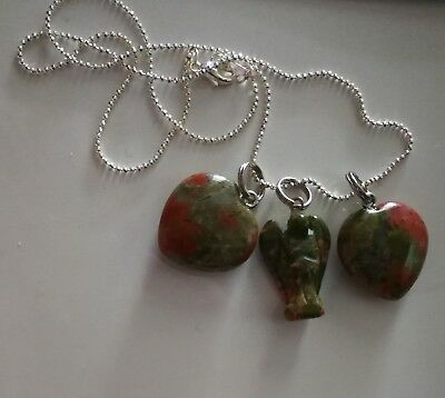 Code 647 HEALTHY GROWTH OF BABY Unakite Archangel Michael Infused Necklace IVF