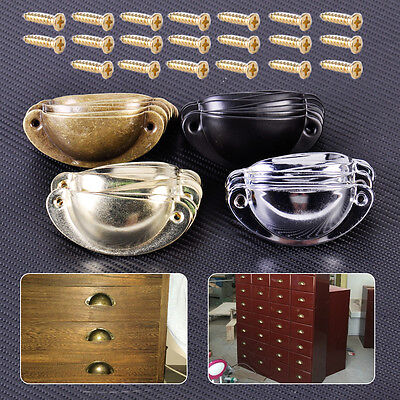 10x Iron Kitchen Cupboard Door Cabinet Cup Drawer Furniture Shell Pull Handle