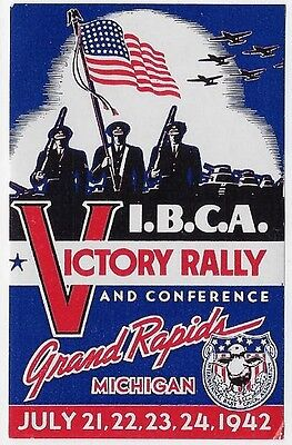 USA Cinderella/Poster: 1942 VICTORY Rally & Conference, Grand Rapids, MI (dw263)