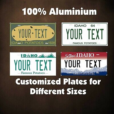 Idaho State Custom Tag Auto OR Motorcycle Personalized License Plates Novelty