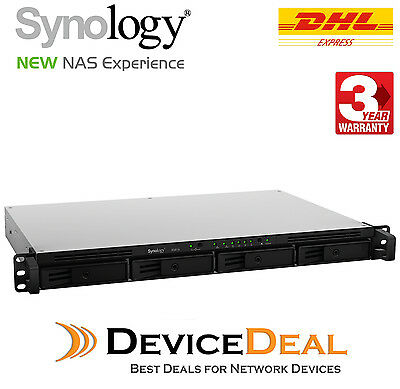 Synology RackStation RS816 4 Bay 1U Rackmount NAS 1.8GHz 1GB RAM (New of RS815 )