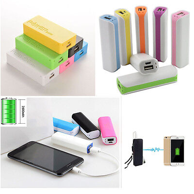 Practical 5600mAh USB Power Bank Case 18650 Battery Charger CASE For Cell Phone