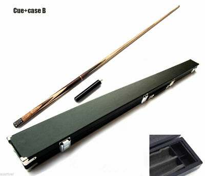 New Full Length Ash Billiards Pool Snooker Cue+Case 3/4 Split 9.8mm Tip Wooden