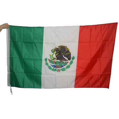3' x 5' Large Mexican Flag Polyester Mexico National Banner Indoor Outdoor MUS