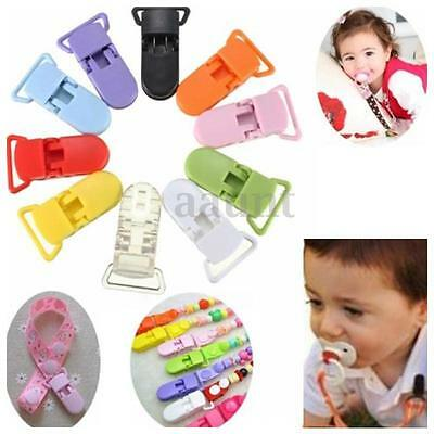 10-50pcs Plastic Boy Girl Baby Dummy Clips Pacifier Soothers Nipple Strap Holder