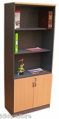 JDK Concept-Bookcase with shelves & door, Office cupboard / High cabint for Home