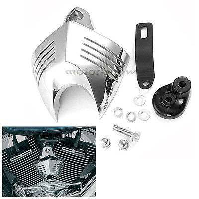 Chrome Motorcycle Horn Cover For Harley Dyna Super Wide Glide Custom FXDWG