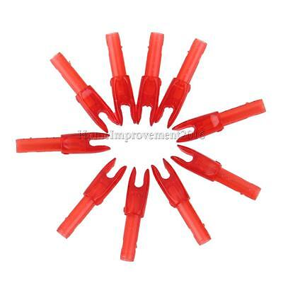 10pcs Archery Nock Arrow Shaft End Accessories G size -Transparent Red