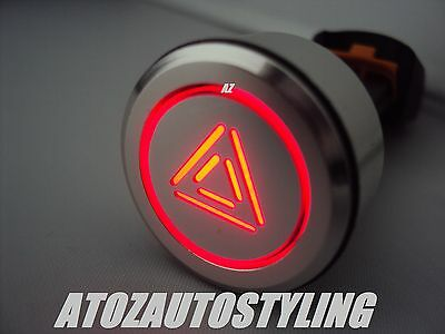 Push Button Panel Switches  'hazard Red Led 12V For Cars Etc Made In Uk