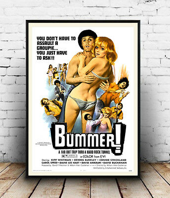 Bummer , Vintage movie advertising Reproduction poster, Wall art.