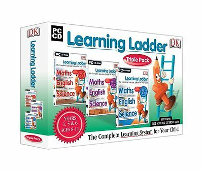 DK Learning Ladder Triple Pack (PC-CD) BRAND NEW TRIPLE PACK YEARS 4,5,6 (8-11)