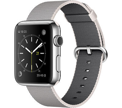 APPLE Watch 42 mm with Woven Nylon Band Compatible with iOS Pearl