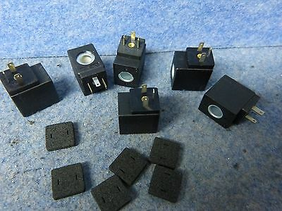 Lot of 6 SOLENOID VALVE CONNECTOR 24 VAC