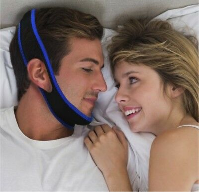 2 x Anti Snoring Chin Jaw Strap Device Solution Stop Snore Helps Sleep Apnea TMJ