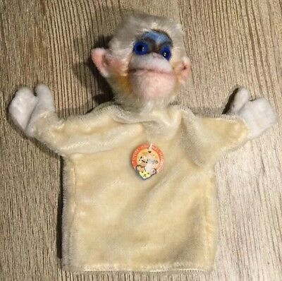 Mungo Monkey Steiff Hand Puppet Steiff  W/ Tag And Button In Ear