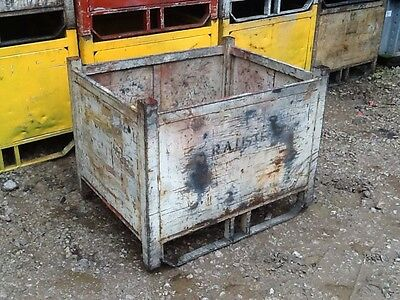 used stillages, box pallet, steel bin,
