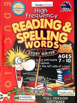 High Frequency Reading & Spelling Words PLUS Story Writer Win 7 PC Game Age 7-10