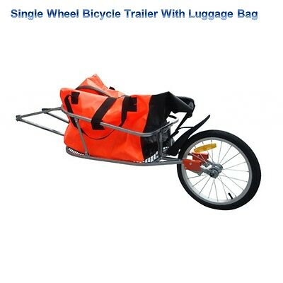 Bicycle Cargo Goods Load Transport Carrier Cycle Towed Tow Trolley Cart Trailer