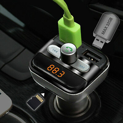 Car Mp3 Player Bluetooth FM Transmitter Car Kit LCD TF Dual USB Charger WL