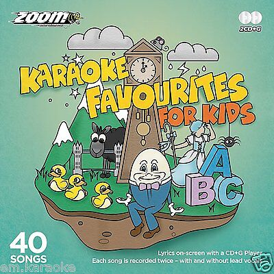40 Karaoke Favourites For Kids (With & Without Lead Vocals) Children's CD+G