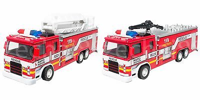 1:32 Die-Cast Fire Ladder / Engine Truck Red Model Collection Sound & Light New