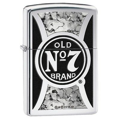 Zippo 29233, Jack Daniels Tennessee Whiskey, Fusion, High Polish Chrome Lighter
