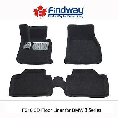 Black all weather 3D Car Floor Mats/Car Floor Liners for 2012-2016 BMW 3 series