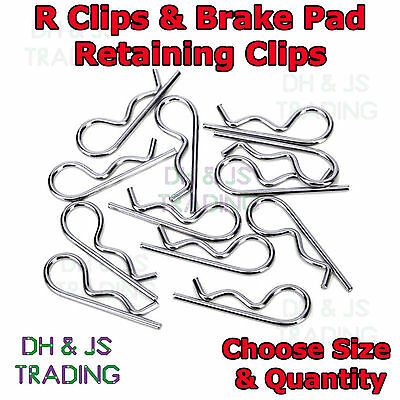 R Clips Cotter Pins Spring Pins Brake Pad Retaining Clip Disc Caliper Pin R Clip