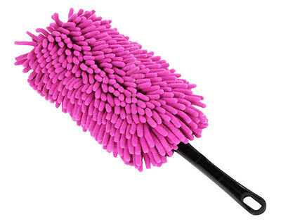 Car Cleaning Supplies Car Wash Brush Dust Removal Bust  - Pink