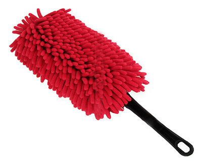 Car Cleaning Supplies Car Wash Brush Dust Removal Bust  - Red