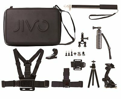 Complete Jivo Go Gear Accessory Kit for GoPro and Action Camera Jivo - BRAND NEW