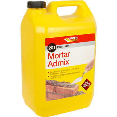 Everbuild 201 Mortar Admix Air Entraining Plasticiser Replaces Lime - 5L