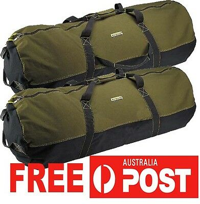 "Heavy Duty Canvas Cabelas Duffle Bag Carry Travel Utility 24"" 60x50cm"