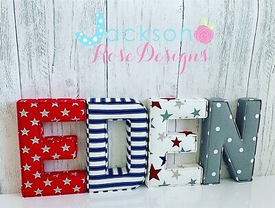 Baby Name Letters, Handmade Fabric name, personalised, girl, boy