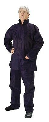 Rain Suit Black Waterproof Polyester Jacket Pants Set Seam Sealed Heavy Duty