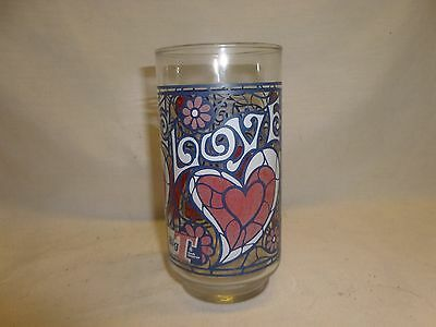 Vtg Tastee Freez Icecream Diner Restaurant Glass Cup Love Mod Hippie Decor