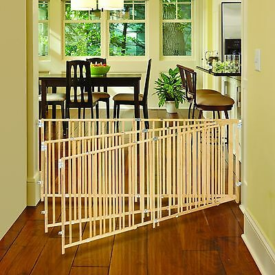 Extra Large Baby Dog Gate 5 6 7 8 9 ft Foot Wide Long Safety Big Strong Wood Pet