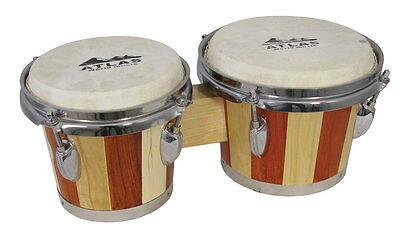 Atlas TUNEABLE BONGOS. Two-tone bongo drums, 18cm & 15cm heads. From Hobgoblin