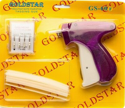 "Quilter's Basting Gun 1 gun , 5 needles and 500 1/4"" fine tagging gun fasteners"