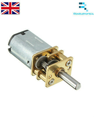 Miniature 12VDC 100RPM Gear Motor High Torque Electric Gear Box - New Free Post